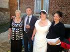 mes 3 enfants et moi le jour de mon mariage