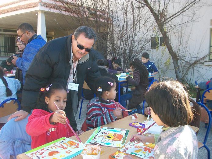 Moi  des petites artistes peintres 24/12/2011