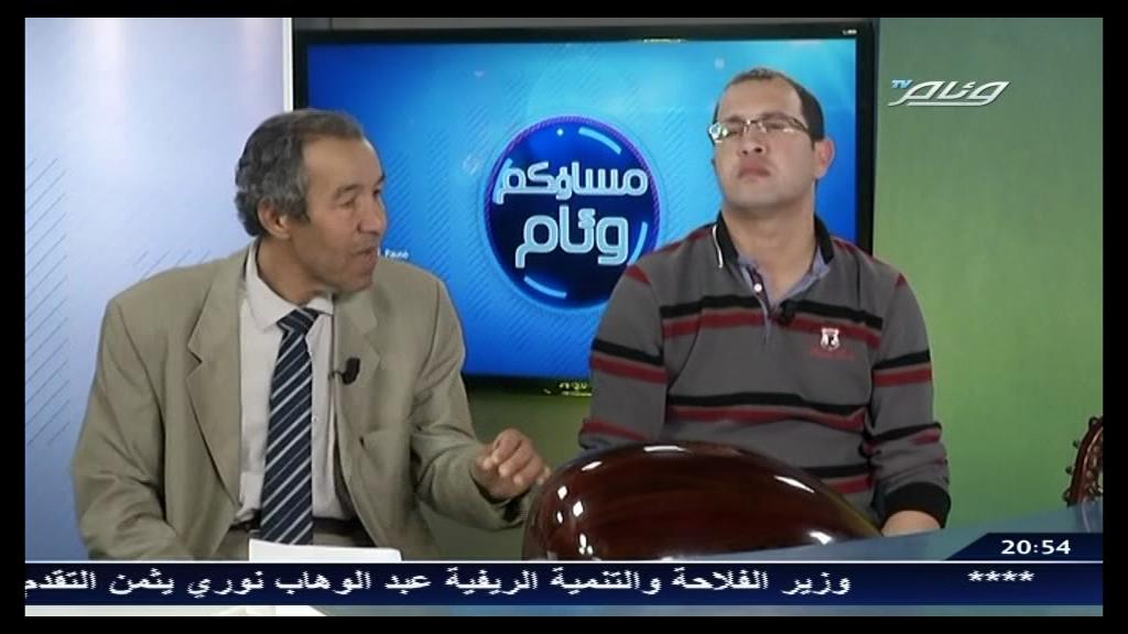 Le poète et le chanteur dans une émission télévisé le 27/03/2014