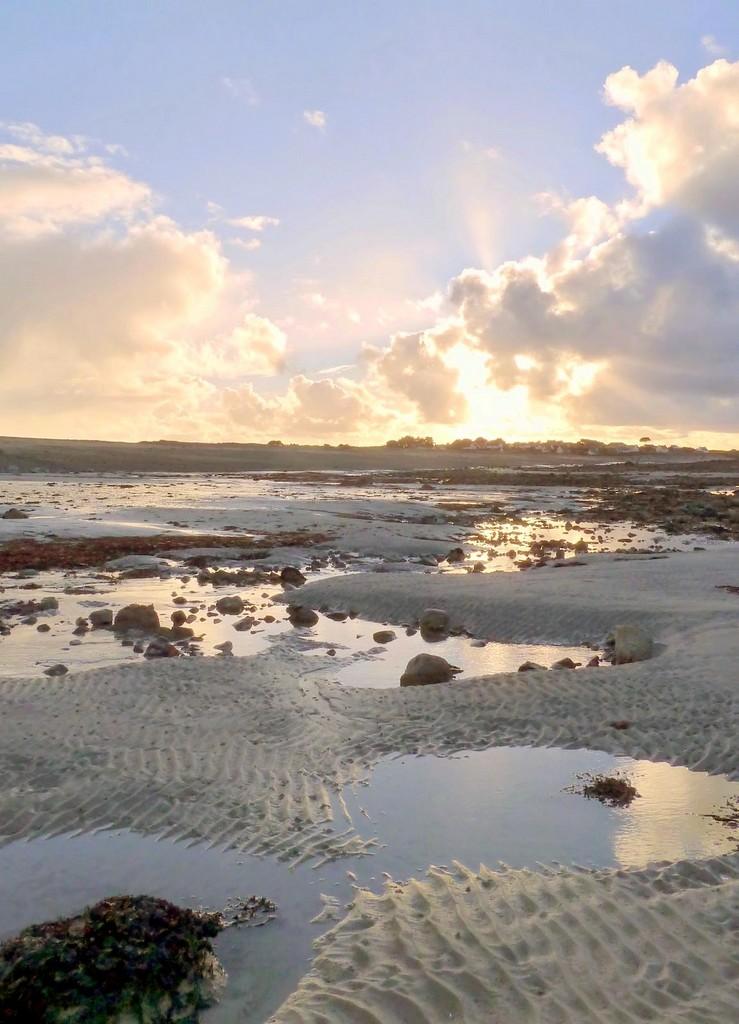Le sillon de Talbert à marée basse, Côtes d'Armor