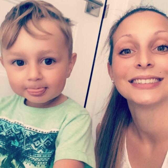 ma fille Myléne et mon baby Hugo.
